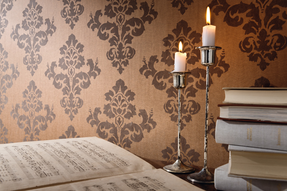 Detail image of Fuggerhaus wallcovering Arietta which is part of the collection Ensemble.