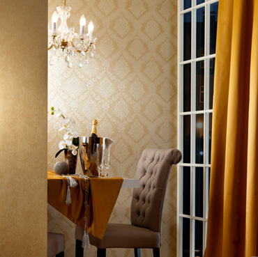 Fuggerhaus wallcoverings Romana, Constantin and Phokas which are part of the collection Byzantium.