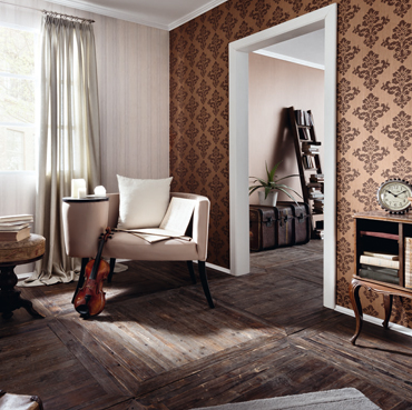 Fuggerhaus wallcoverings Arietta and Octavia which are part of the collection Ensemble.