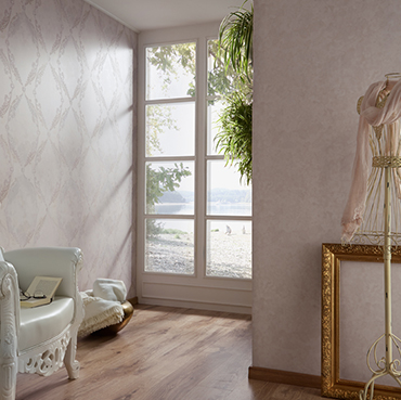 Fuggerhaus wallcoverings Medall and Glow which are part of the e collection Secret Garden.