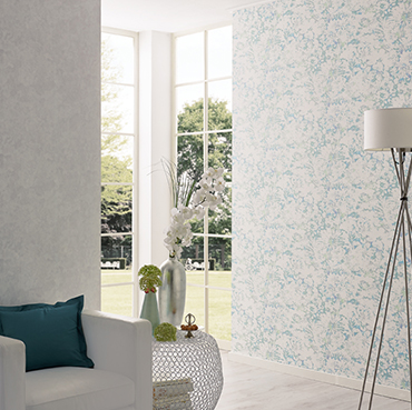 Fuggerhaus wallcoverings Wildflower and Glow which are part of the collection Secret Garden.